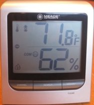 Hygrometer to monitor humidity levels