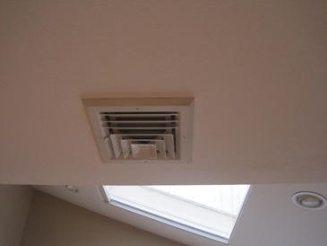 ac vent mold picture, ac vent before mold cleanup, ac vent before mold remediation