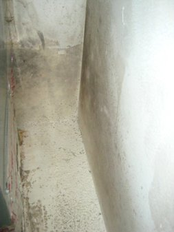 Mold near heating system