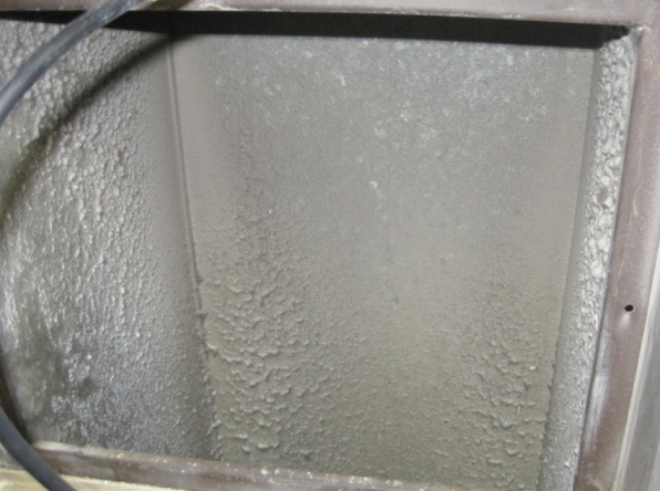 Air Duct With Excessive Dust And Debris