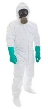 Protective suit for getting rid of black mold