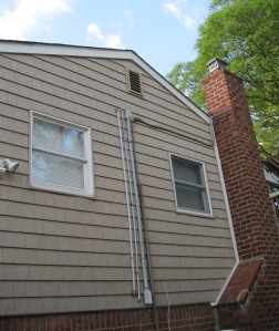 house after mold cleanup, home after mold remediation, attic closed and completed professional mold remediation