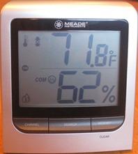 Hygrometer for mold