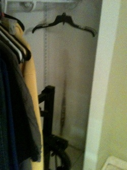 Closet with mold