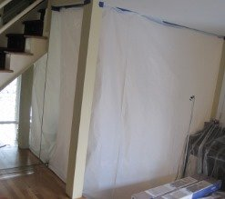 Containment during mold remediation