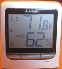 Home humidity meter