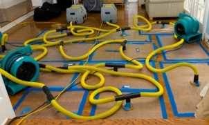 Water mitigation dryers and pumps